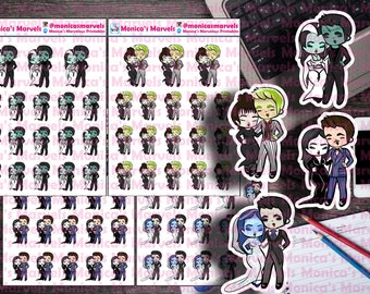 Chibi Gothic Couple - Stickers - Die Cuts