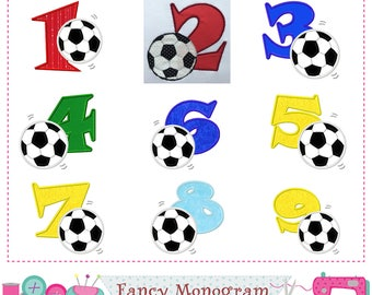 Soccer Numbers applique,Football Numbers applique,Football,Soccer applique,Soccer design,Birthday Numbers applique.-1555