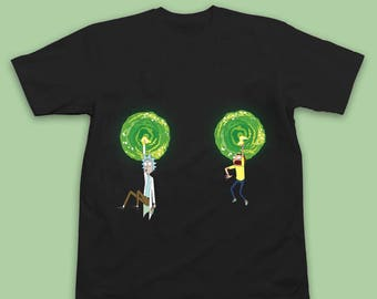 Rick and Morty T Shirt - Rick and Morty Shirt - Boob Warp Rick and Morty - Rick and Morty Tee - Funny Rick and Morty Gift T Shirt