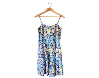 90s floral babydoll dress | S