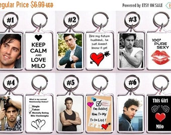 ON SALE NOW Milo Ventimiglia Keychain Key Ring - Many Designs To Choose From