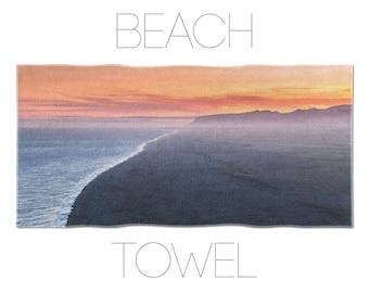 Landscape Photo Beach Towel, Iceland Photography, Coastal Art, Large Towels, Bath Linen, Photo Printed