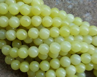 "Natural Peridot 8mm Round Beads - 15.7"" Strand"