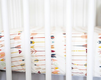 Fitted Crib Sheet   Arrows