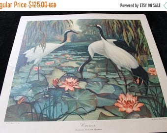 Christmas in July Cranes by Jessie Arms Botke Fine Art Litho