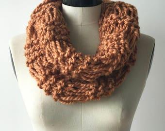 Wool blend scarf - handmade knit