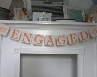 "Engagement Banner ""Engaged"" Engagement Banner Nautical Engagement"