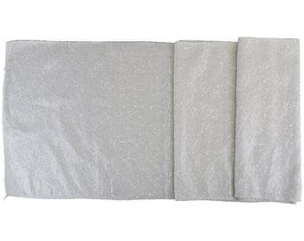 """Sequin Table Runner Solid White 12""""x108""""-Just Artifacts Brand-Item SKU:LTR120004- Metallic Table Runners for Weddings, Parties, & Events"""