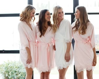 Set of 10 Bridesmaid Robes // Robe // Bridal Robe // Bride Robe // Bridal Party Robes // Bridesmaid Gifts // Satin Robe // Josie