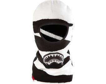 Black white ski mask