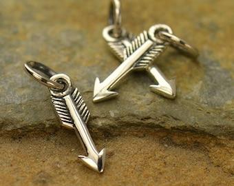 Tiny Arrow Charm Sterling Silver