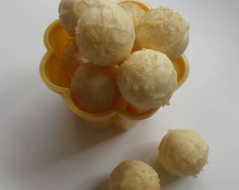 Gin & Lemon Flavoured White Chocolate Truffles - Assorted Pack Sizes 2-12