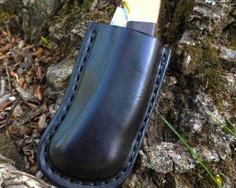 Buck custom leather sheath, Custom leather sheath for Buck 112 Ranger, folding knife case, pocket knife leather case, Buck 112 case edc