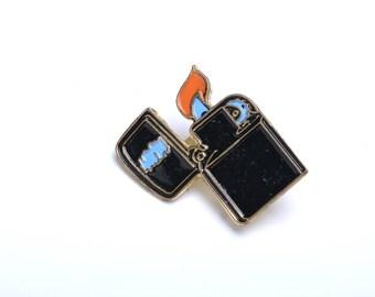 Zippo, lighter, cigarettes lapel pin, smoking accessories, cool pins, lapel pin, enamel pin, pop culture lapel pin