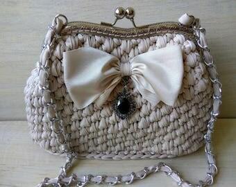 Women handbag crochet. Evening handbag. Handbag of knitted yarn. Crochet shoulder bag. 12+ colors handbag crochet. Crochet boho bag