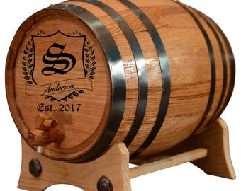 Personalized Whiskey Barrel - Custom Engraved Oak Barrel | Age your own Tequila, Whiskey, Rum, Bourbon, Wine, Vinegar...