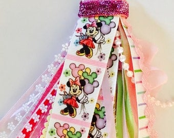 Minnie Mouse Balloon Planner Tassel Keychain Gift Party