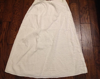 Vintage white PIN TUCK FABRIC formal-length skirt, incomplete