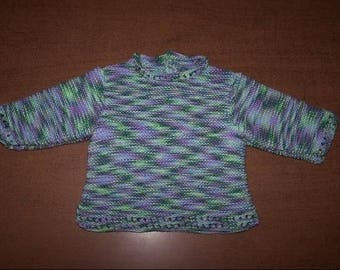 Natural 3 months cotton multicolored green cotton sweater