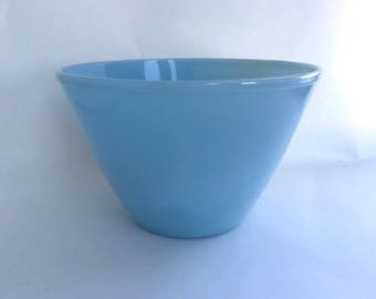 Fantastic Fire King Large Blue Glass Mixing Bowl