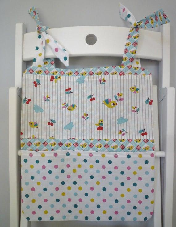 Vide poche mural organiseur tissu tag re de chaise en tissu - Vide poche mural tissu ...