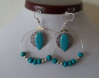 Earrings turquoise piece only one ring only available