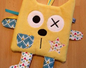 White blue yellow toy