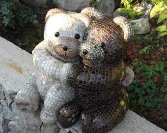 Sculpture tenderness bear tile and resin to order