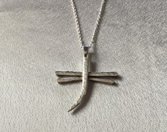 Fork Tine Dragonfly pendant
