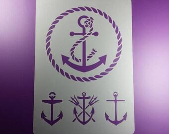 Template Anchor 4 Motive Rope Cord BA57