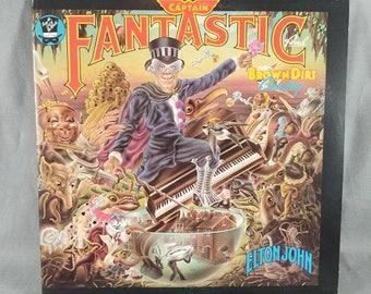 Vinyl ~ Elton John ~ Captain Fantastic ~ The Brown Dirt Cowboy ~ Record ~ Lyrics Book ~ Music ~ Fan Club Application ~ LP~ My Nostalgic Life