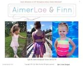 AimerLae&Finn Spin and Swim Bodysuit size 3m to 10 PDF pattern