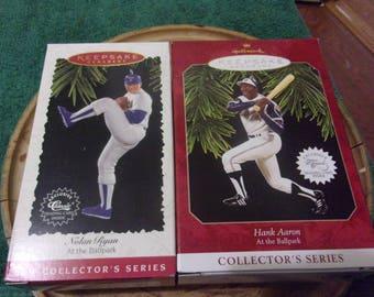 2 Hallmark At The Ballpark Series Ornaments