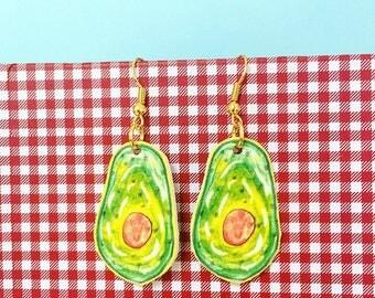 Avocado Illustrated Earrings