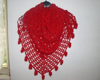 scarf, shawl, neck to crochet in Alpaca