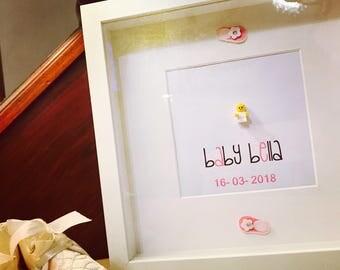 New Baby Gift - Personalised Lego® Frame