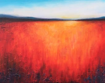 Distant hills , original textured acrylic painting jane Palmer contemporary wall art