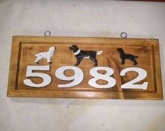 House Number Sign, House Number Plaque, Outdoor House Numbers, House Number Plaque, Mailbox Number, Carved Numbers for Mailbox, Red Oak