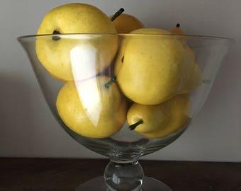 Vintage Glass Bowl Vintage Compote