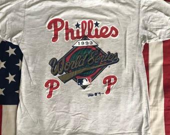 Vintage 1993 Philadelphia Phillies World Series T-Shirt