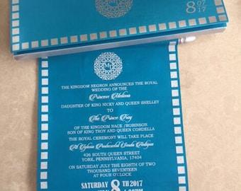 Scroll invitations | Etsy