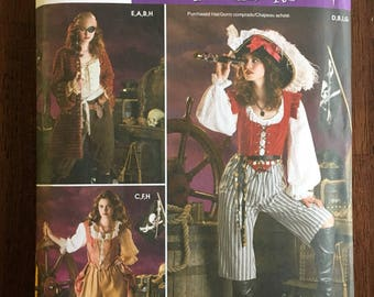 SIMPLICITY Pattern No. 3677 Size RR 14-16-18-20  - Halloween Caribbean Pirate, Musketeer, Historical Theater Costume - Teen/Adult Sizes