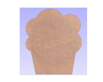 CUPCAKE - BIRTHDAY - Unfinished Wood Cutout - DIY - Wreath Accent, Door Hanger, Ready to Paint & Personalize