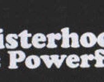 Punk patch Sisterhood is powerful, punk hardcore patches