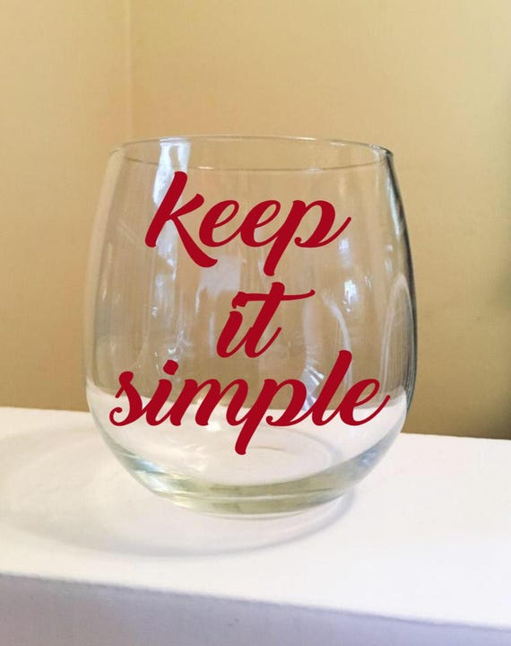 Keep It Simple Stemless Wine Glass
