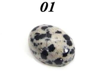 On sale - Natural Dalmatian Jasper- Round, Trillion, Heart, Rectangle Cabochon - Semi precious stone - Loose gemstone - SHST7009