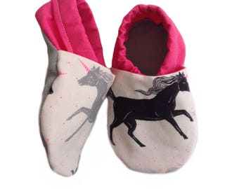 Unicorn Soft Sole Baby Shoes, booties, pram shoes