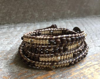Sutton Beaded Wrap Bracelet
