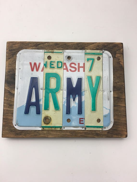 Army license plate sign / US Army Gift / Army gift / license plate plaque Army