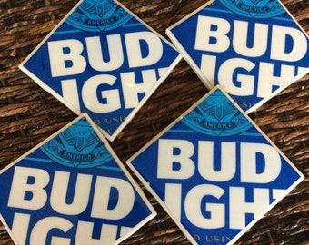 Bud Light Beer Coasters *New Logo*
